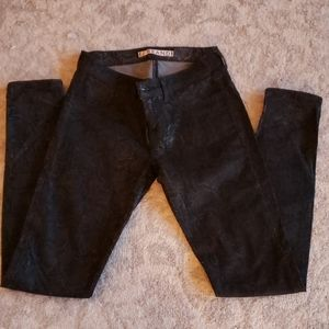 Women's JBrand Black Snake Embossed Jean Sz 25